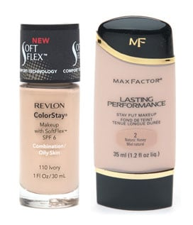 Revlon ColorStay Foundation and Max Factor Lasting Performance Foundation Comparison Review