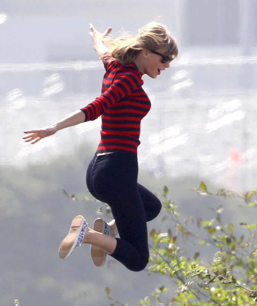 Taylor Swift Brings Her Bounce to an LA Photo Shoot