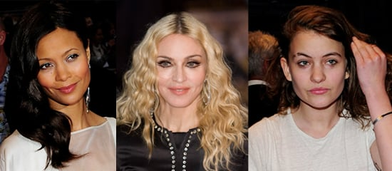 Photo of Madonna, Thandie Newton and Coco Sumner at Guy Richie Film Premiere RocknRolla in London: Whose Beauty Look Style?