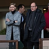 Princess Charlene of Monaco at Rugby Match With Jacques 2016