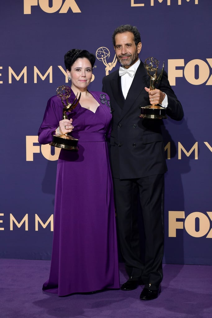 Alex Borstein and Tony Shalhoub at the 2019 Emmys