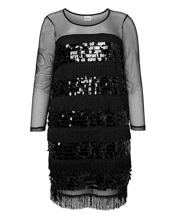 Junarose Sequin and Tassel Dress (£62)