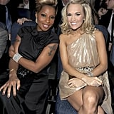 Mary J. Blige and Carrie Underwood at the 2009 American Music Awards