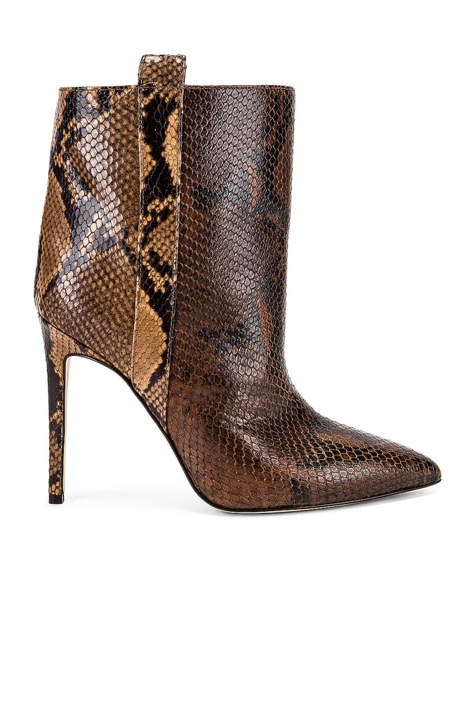 Paris Texas Snake Print Ankle Boots