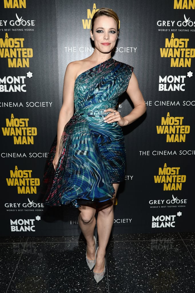 Rachel McAdams in Zuhair Murad Haute Couture at the New York screening of A Most Wanted Man.