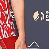 Jessica Alba Constellation Tattoos Close-Up