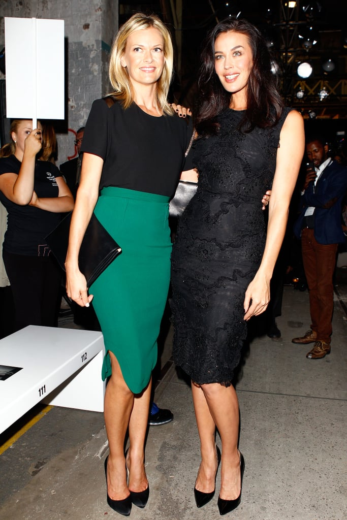 Model pals Sarah Murdoch and Megan Gale showed them how it's done at Alex Perry's show at MBFWA on April 8.