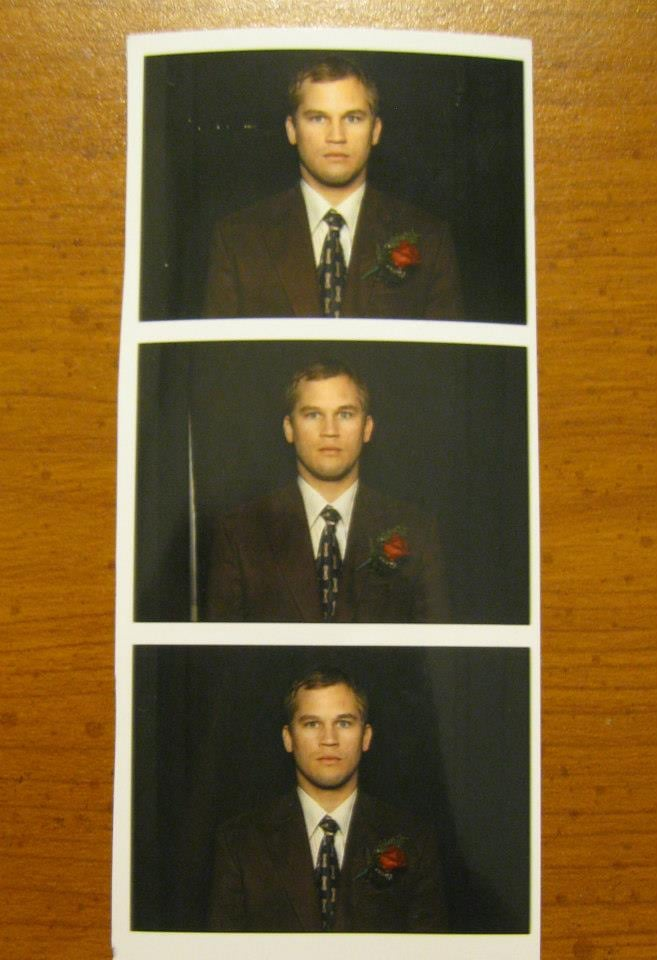 """We had a photo booth at our wedding. I think my brother-in-law doesn't understand how photo booths work."" Source: Reddit user RyanSmithN via Imgur"