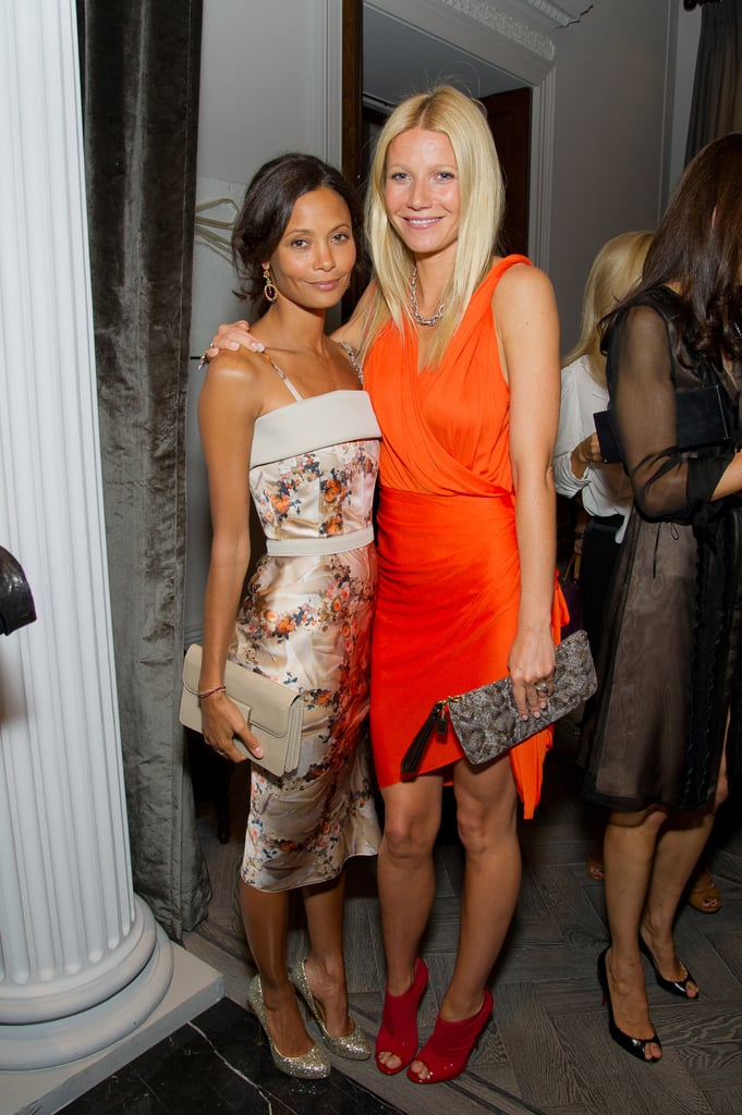 Gwyneth Paltrow and Thandie Newton at a Coach dinner in London.