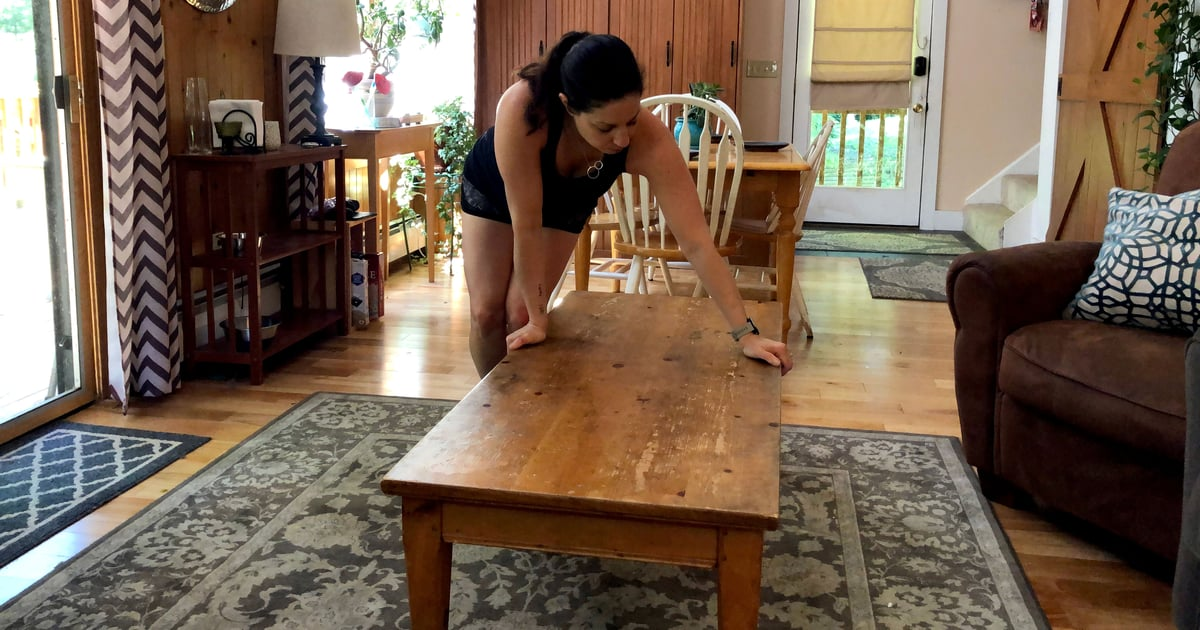 This is the 30-Minute Full-Body Workout I've Been Doing Using Just My Coffee Table