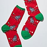 Festive Mess Cat Socks