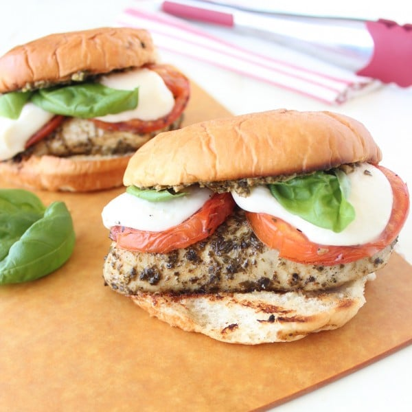 Caprese Grilled Chicken Sandwich