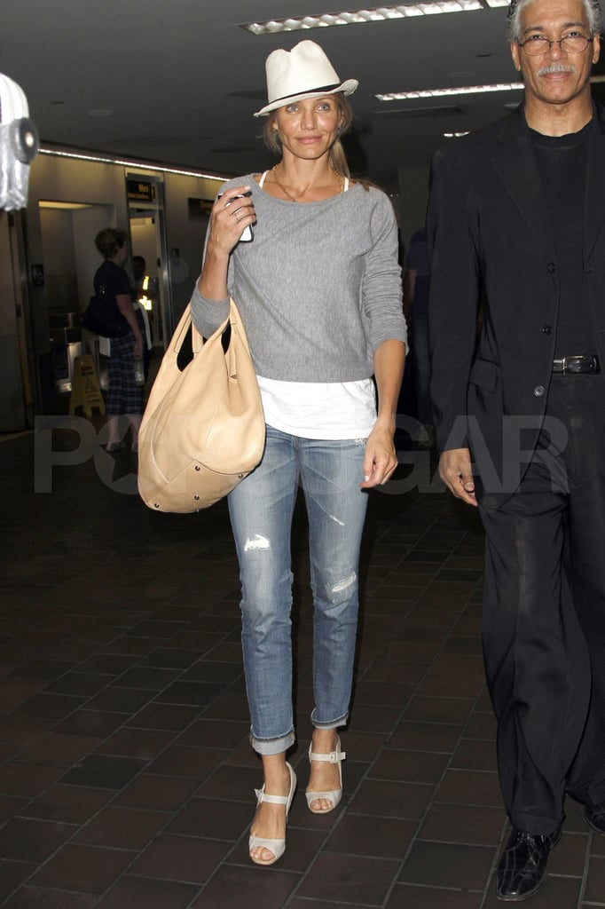 Cameron Diaz arrives in New York.
