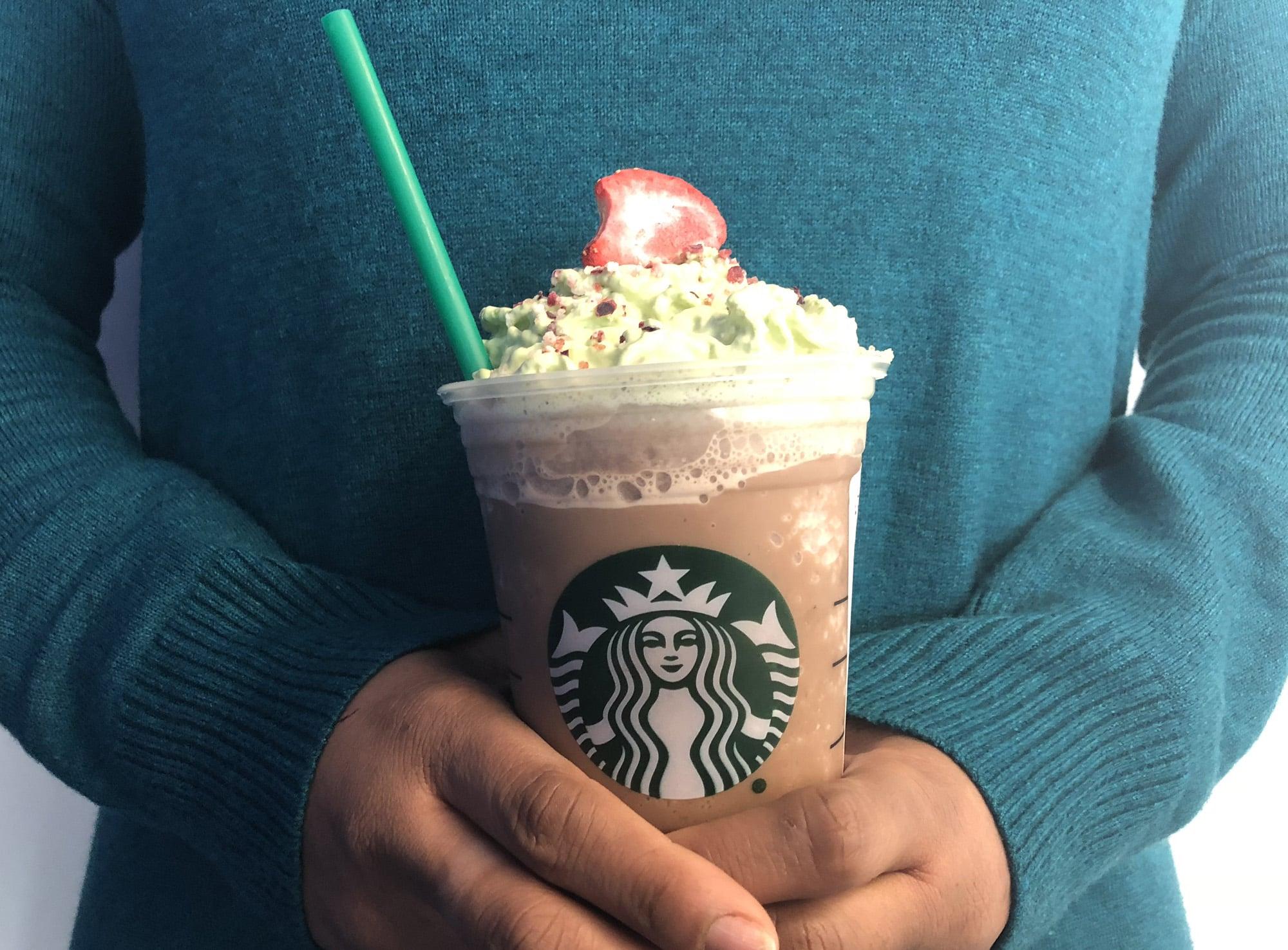 Christmas Tree Frap.Starbucks Christmas Tree Frappuccino Review Popsugar Food
