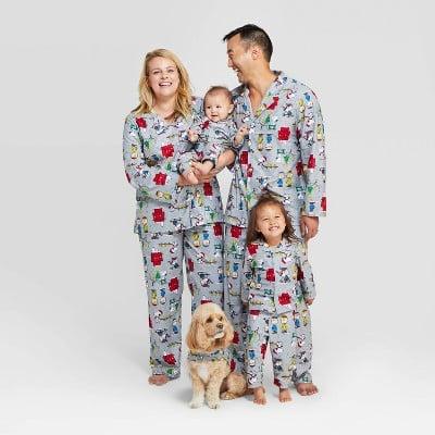 Peanuts Holiday Flannel Pajama Set