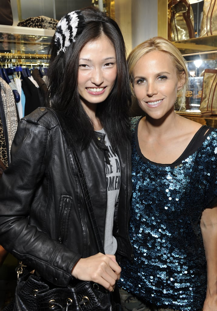 Happy faces at Tory Burch, and Tory Burch!