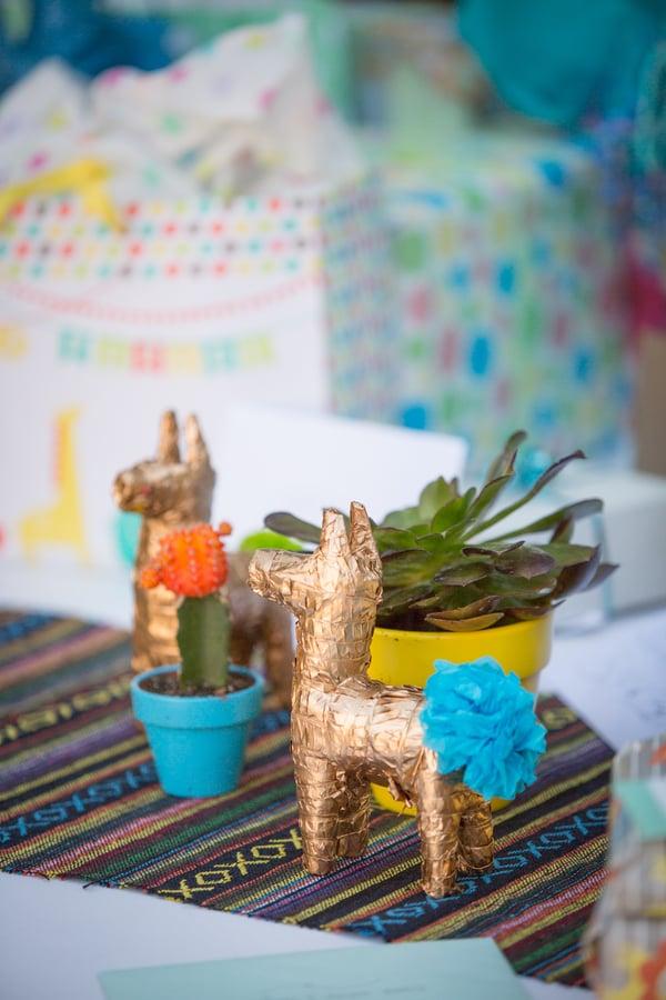 Golden-Wrapped Llamas