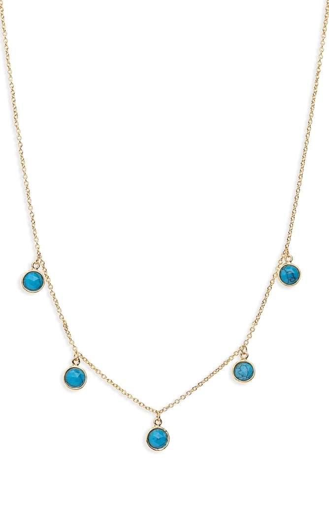 Gorjana Olivia Adjustable Semiprecious Stone Station Necklace