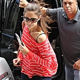 Katie Holmes carried a copy of the book Brave Emily.