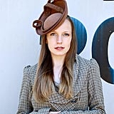 Etsy Brown Harris Tweed Fascinator Hat