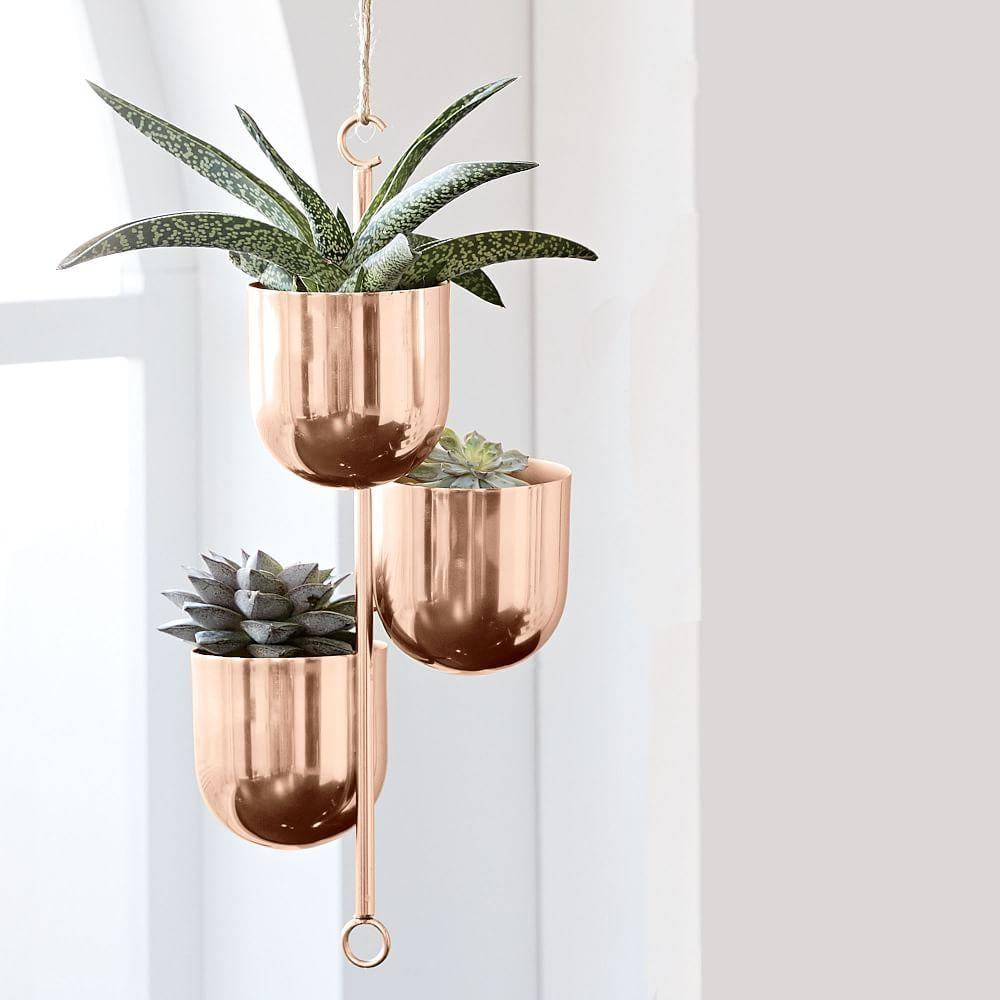 West Elm Hanging Metal Planters, $89