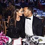 The two gazed lovingly into each other's eyes at the 2016 Golden Heart Awards in NYC.