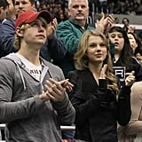Taylor Swift and Chord Overstreet Take In a Hockey Game Together