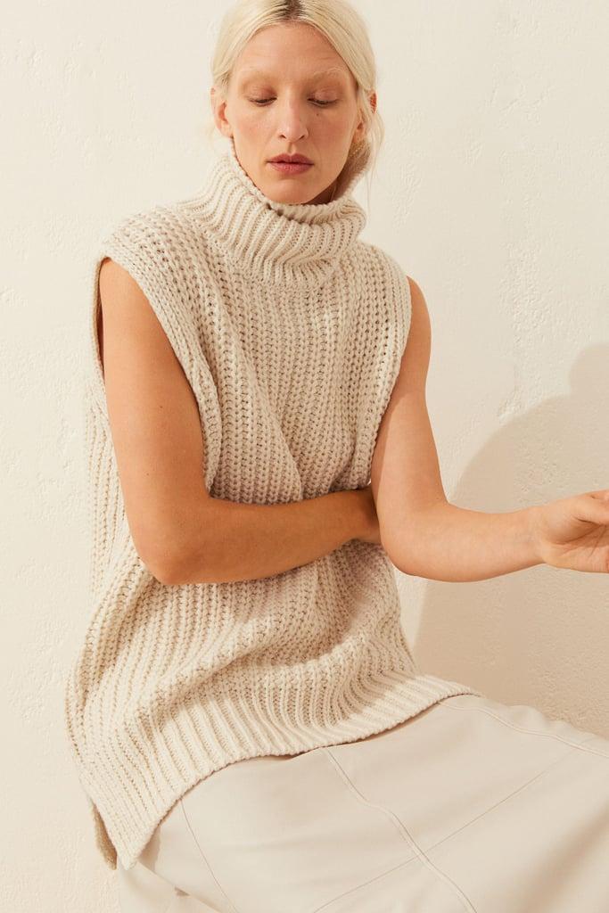 Sleeveless Turtleneck Sweater