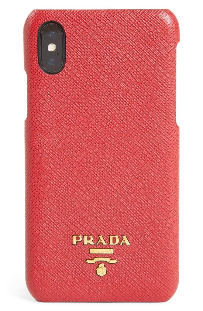 Prada Saffiano Leather iPhone X & Xs Case