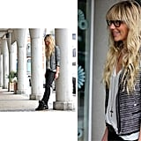 Add a modern Chanel-inspired tweed jacket to your casual attire. Photo courtesy of Lookbook.nu
