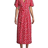 Vero Moda Flutter-Sleeve Floral Dress