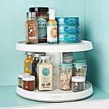 YouCopia 2-Tier Height0Adjustable Crazy Susan Kitchen-Cabinet Turntable