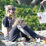 Pregnant Jessica Simpson Wears a Bikini as Ashlee and Bronx Hit the Beach