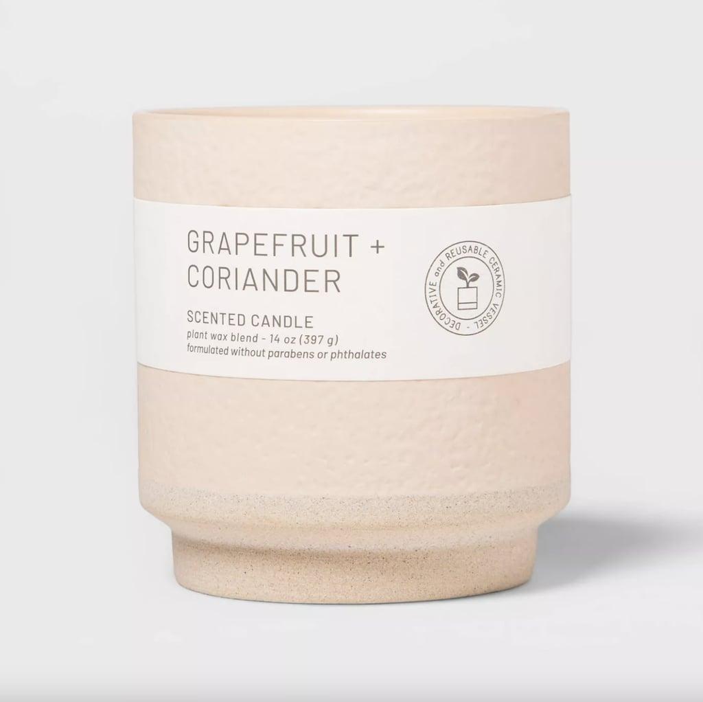 Grapefruit and Coriander Wellness Ceramic Candle