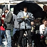 Orlando and Mark on Set