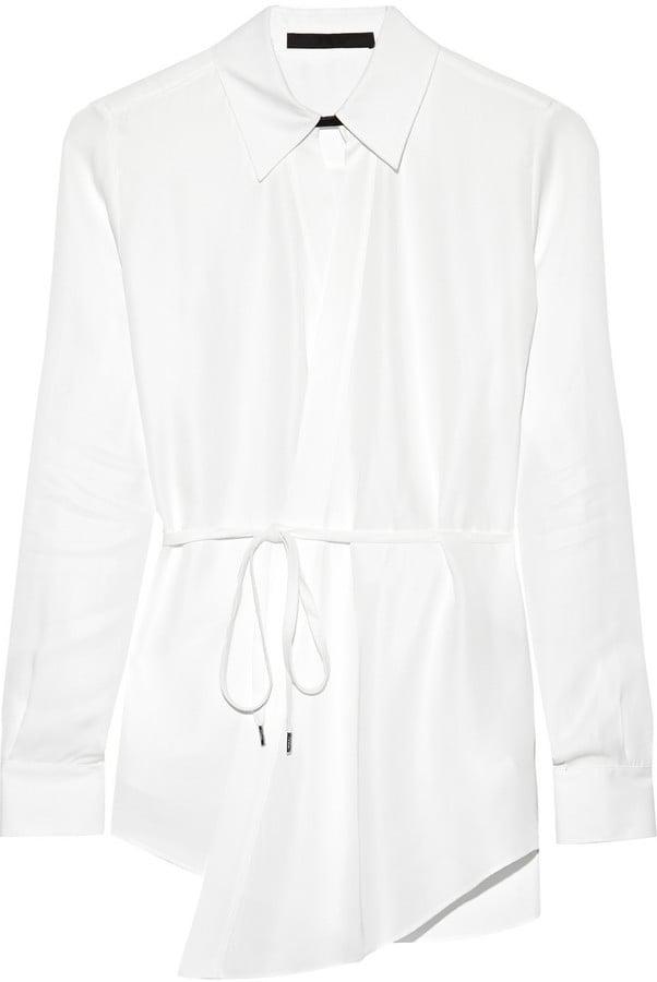 Karl Lagerfeld Nola Poplin Wrap Shirt ($117, originally $195)