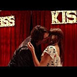 And they kiss!