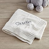 Personalised Ivory Star Jacquard Blanket