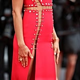 Irina Shayk Red Versace Dress Cannes 2018