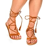 60204e9d6 ... Dream Pairs Sammy Gladiator Flat Sandals Sandalup Tie up Ankle Strap ...