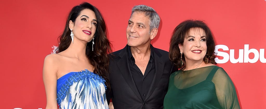 Amal Clooney's Mum Tags Along With Her Daughter and George For a Truly Sweet Red Carpet Outing