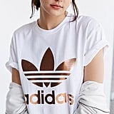 adidas Rose Gold Double Logo Tee