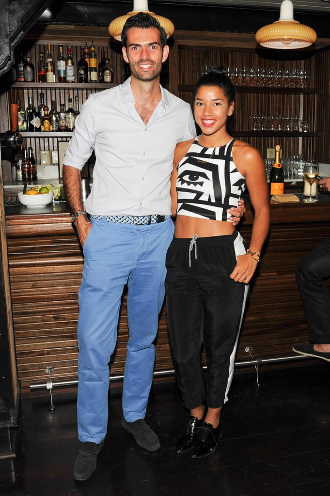 Chris Morton and Hannah Bronfman feted Lyst's Universal Shopping Cart launch at New York's Lafayette.