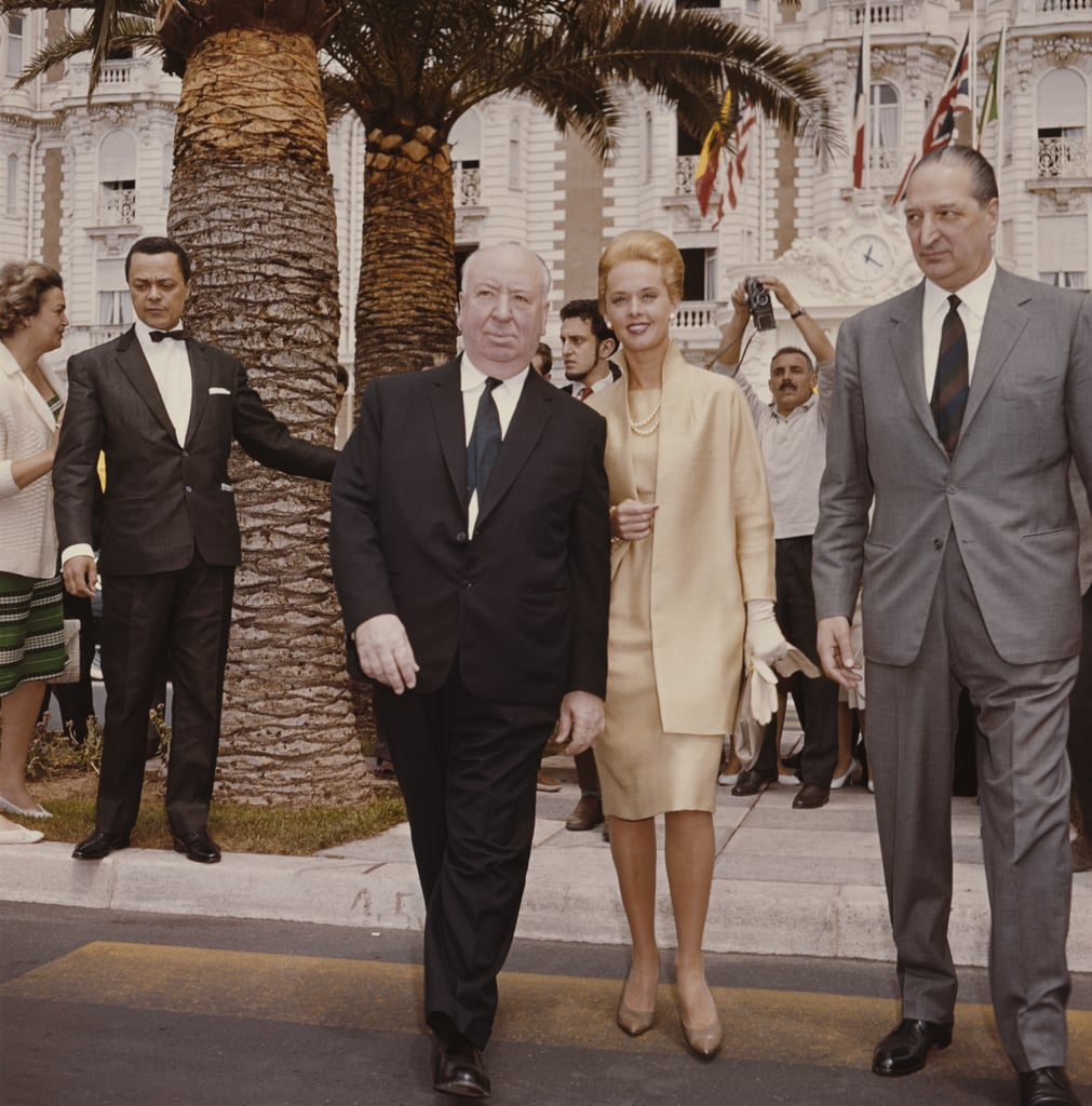 Alfred Hitchcock and Tippi Hedren, mother of Melanie Griffith and grandmother of Dakota Johnson, arrived to promote The Birds in 1963.