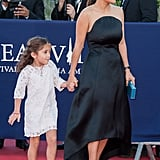 Salma Hayek was accompanied by daughter Valentina on the red carpet at the closing ceremony of the Deauville American Film Festival in France.