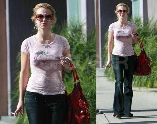 Photos of Britney Spears Smoking a Cigarette in LA