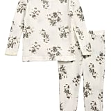 Something Navy Floral Thermal Pajamas For Baby