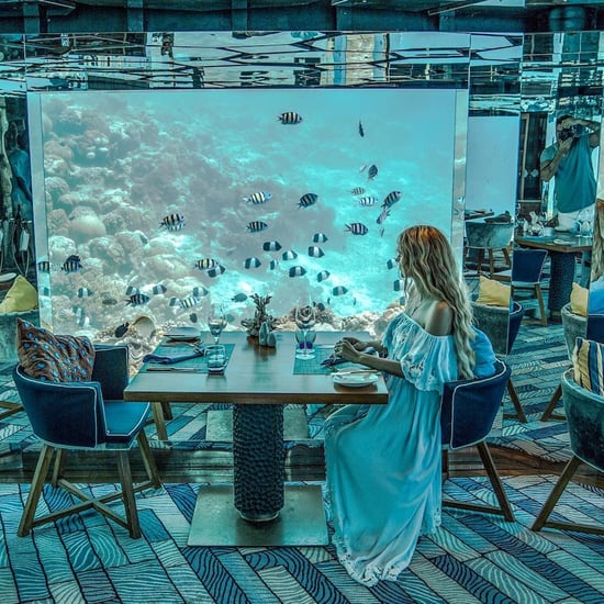 Sea Underwater Restaurant at Anantara Kihavah in Maldives