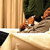 Jay Z and Beyoncé shared the first photos of Blue Ivy Carter in February 2012.   Source: Tumblr user helloblueivycarter