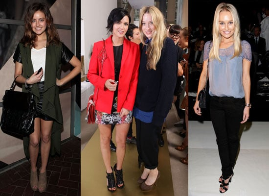 Pictures of Front Row Celebrities From 2011 RAFW Day Two